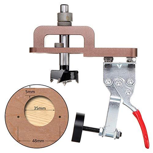 Plantilla de agujero de bolsillo, todo en uno, kit de guía de perforación de plantilla de agujero de bolsillo de aluminio, agujeros de taladro de madera Localizador de posicionador de carpintería