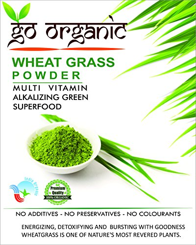Go Organic Wheat Grass Powder Greens, Detox, Immune Support, Alkalize, Whole Leaf Powder, Vitamin K, Gluten Free, GMO Free, Kosher, Wheatgrass 150g