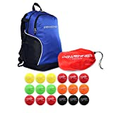 PowerNet 2.8' Baseball Weighted Progressive Training Balls Bundle with Blue Backpack | Complete Set Heavy Ball 18 Pack 12 to 20 oz | Build Strength and Muscle | Enhance Hand-Eye Coordination