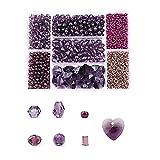 BINCIBH Abalorios,Cuentas Vidrio para 7 células Forma Mixta Beads Set Crystal Glass Beads Faceted Coser Bordado Barra de Abalorios Separador Suelto para Accesorios de Ropa (Color : 11)