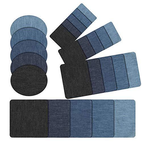 Aufnäher kinder,Zum Aufbügeln für DIY,Applikation Flicken Zum Aufbügeln, Denim Patches,patch sticker kleidung,Jeans Kleidung Patches (25PCS)