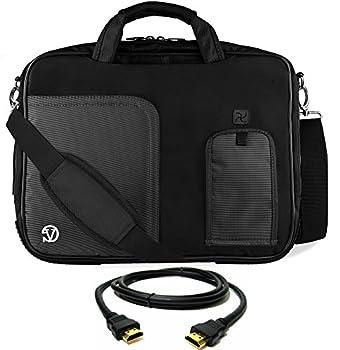 Jet Black Laptop Messenger Bag HDMI Cable for ASUS Transformer ROG ASUSPRO ZenBook VivoBook 14  to 15.6 inch