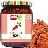 Add me Home Made Carrot Pickles Gajar ka Khatta Achar 500Gm Glass jar