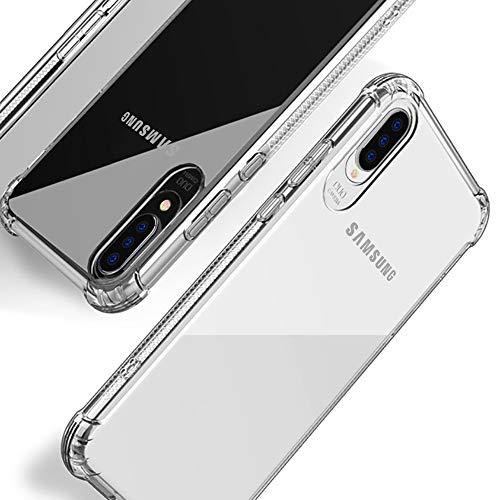 Beetop Kompatibel Mit Samsung Galaxy A50 Hülle Schutzhülle [Verdickung an 4 Seite] Handyhülle Transparent Weiche Silikon TPU Rückschale Case Cover Für Samsung Galaxy A50/A50s/A30s - Durchsichtig(WSJ)