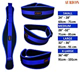 Aurion Weight Lifting Belt Pro Quality Neoprene Back Support Belt with Speed Fit