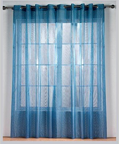 Rioma Alejandra - Cortina visillo con ollados, 140 x 270, color azul