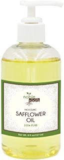 (8 fl oz) Safflower Oil High Oleic by Noble Roots, Skin and Hair Moisturizer, Non-Comedogenic and Has Been Known to Contain High Anti-Oxidant and Contain Anti-Inflammatory