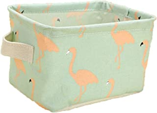 TRADE Cotton Linen Storage Basket Water-Proof Foldable Storage Bin with Handles for Fabric Drawer Baby Storage Toy Storage Clothing Storage