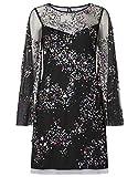 Monsoon Ladies Freyja Sequin Tunic Dress Womens Size 14 - Black Elegant Party