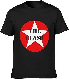 RXsXianR ザ・クラッシュ The Clash Star Tシャツ メンズ 春 秋 夏服 丸ネック上着 t シャツ ファッションプリント カジュアルカジュアル 通気性 通勤 通学 男女兼用 スリム