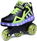 Roller Entraîneurs de patins à roulettes, chaussures avec roues pour adultes Entraîneurs entraîneurs de ruban adhésifs Tape Poulie Chaussures Double rangée Déformer Patinage Patinage Chaussures pour e