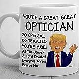 N\A Presidente Ottico Paperino sulla Divertente Tazza da caffè, Tazza da tè in Ceramica Tazza da Bevande 11 Once per Il Ringraziamento, Natale, casa e Ufficio, Compleanno.