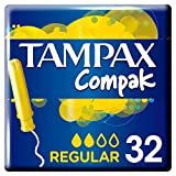 Tampax Compak Régulier Tampons Applicateur x 32