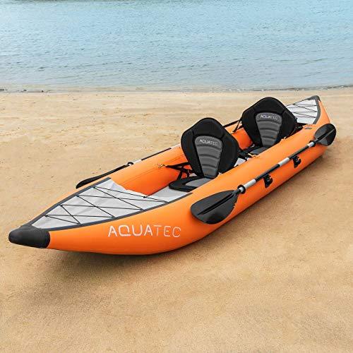 AQUATEC aufblasbare Kajaks | das Schlauchboot Kanu ist in 2 Stilen & entweder als Einzeln oder Tandem erhältlich (Hudson (Amateure), Einzeln)