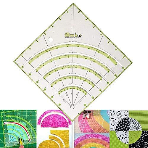 Righello della taglierina del cerchio della trapunta degli archi e dei fan per taglio facile