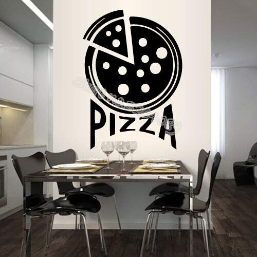 JXLLCD Dünne untere Unterschrift Pizzeria Italienische Pizza Wandtattoo Kunst Wandaufkleber Wohnkultur Restaurant Küche wasserdicht 56x78 cm