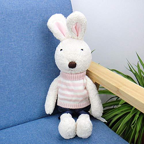 Kaninchen Puppe Zucker Paar Kleine Weiße Kaninchen Plüschtier, Puppe Weit In Der Nähe Von Fisch Den Gleichen Absatz Puppe Kissen Süß, Für Kinder Mädchen Weihnachtsgeschenk-6_60Cm