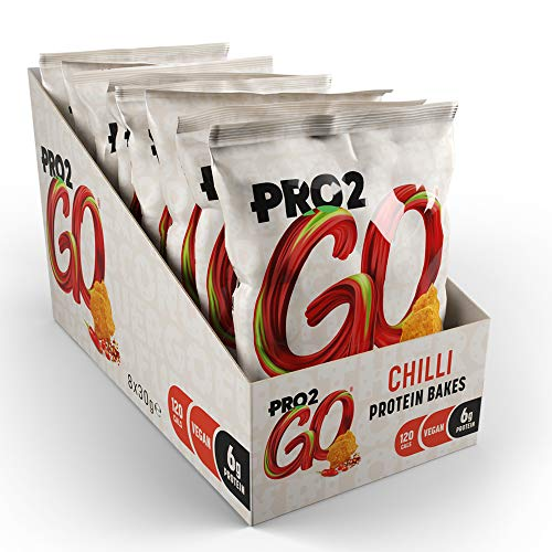 PRO 2GO High Protein Bakes Box, Chilli Flavour, 8 x 30 g Packs