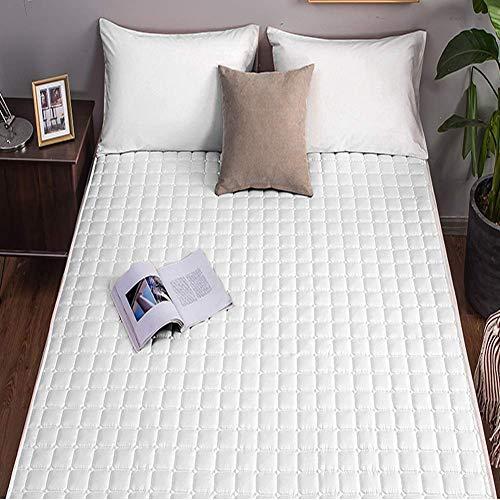TTFFWW Colchón para cama futón de matrimonio y individual, plegable y enrollable, para ahorrar espacio, apto para camping, yoga, residencias para estudiantes, blanco, 90 x 200 cm