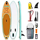 DAMA Inflatable Ultra-Light SUP, Stand Up Paddle Board, Adjustable Paddle, Double Action Pump, ISUP Travel Bag, Camera Seat, Leash, Waterproof Bag, Board Carrier for Padding Adult