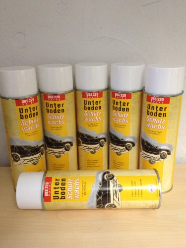 6 X Fertan UBS Wachs-Unterbodenschutz 500 ML Spraydose