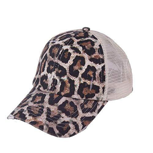 Gorra de béisbol con Cola de Caballo para Mujer, Gorras de algodón Lavado desgastadas, Gorra Informal de Verano con Borde, Sombreros para papá, Brown