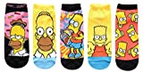 Hyp The Simpsons Juniors/Womens 5 Pack Ankle Socks