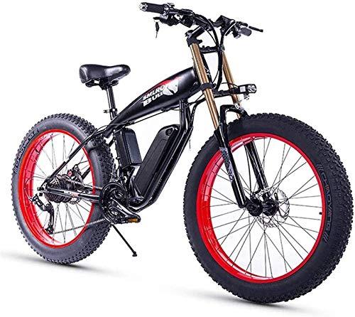 Bici electrica, 26 pulgadas de bicicletas de montaña eléctrica con batería extraíble (350W48V10Ah), 27 de velocidad de aluminio de bicicletas de montaña de la aleación con la máxima velocidad de 25 km