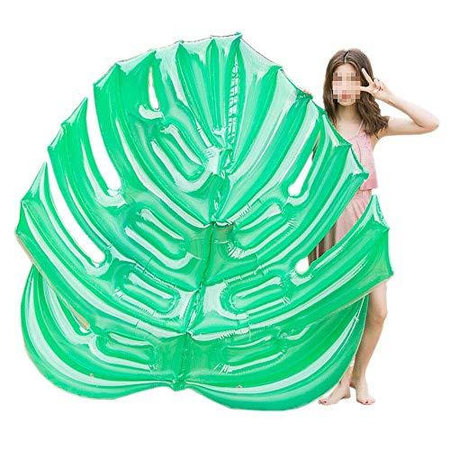 NBVCX Piezas mecánicas Flotador de Piscina Inflable Silla Flotante para Adultos Hoja Verde Hoja Flotante de Fila Cama Flotante Inflable para Adultos y niños (Color: Verde Tamaño: Talla única)