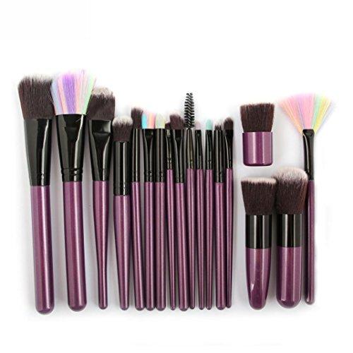 HLHN 18 Teiliges Schmink Pinsel Set- Rougepinsel, Lidschattenpinsel, Puderpinsel - Premium Makeup...