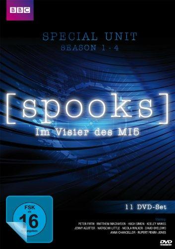 Spooks - Im Visier des MI5 - Special Unit - Staffel 1 - 4 + Bonusmaterial [11 DVDs] [Alemania]