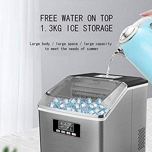 511jgP8ZF9L - SEESEE.U Eismaschine, quadratische Eiswürfel in 12-20 Minuten fertig, 25 kg EIS in 24 Stunden herstellen, tragbare kleine Eiswürfelbereiter für Arbeitsplatte Home Bar Perfekt für Partys Mixgetränke