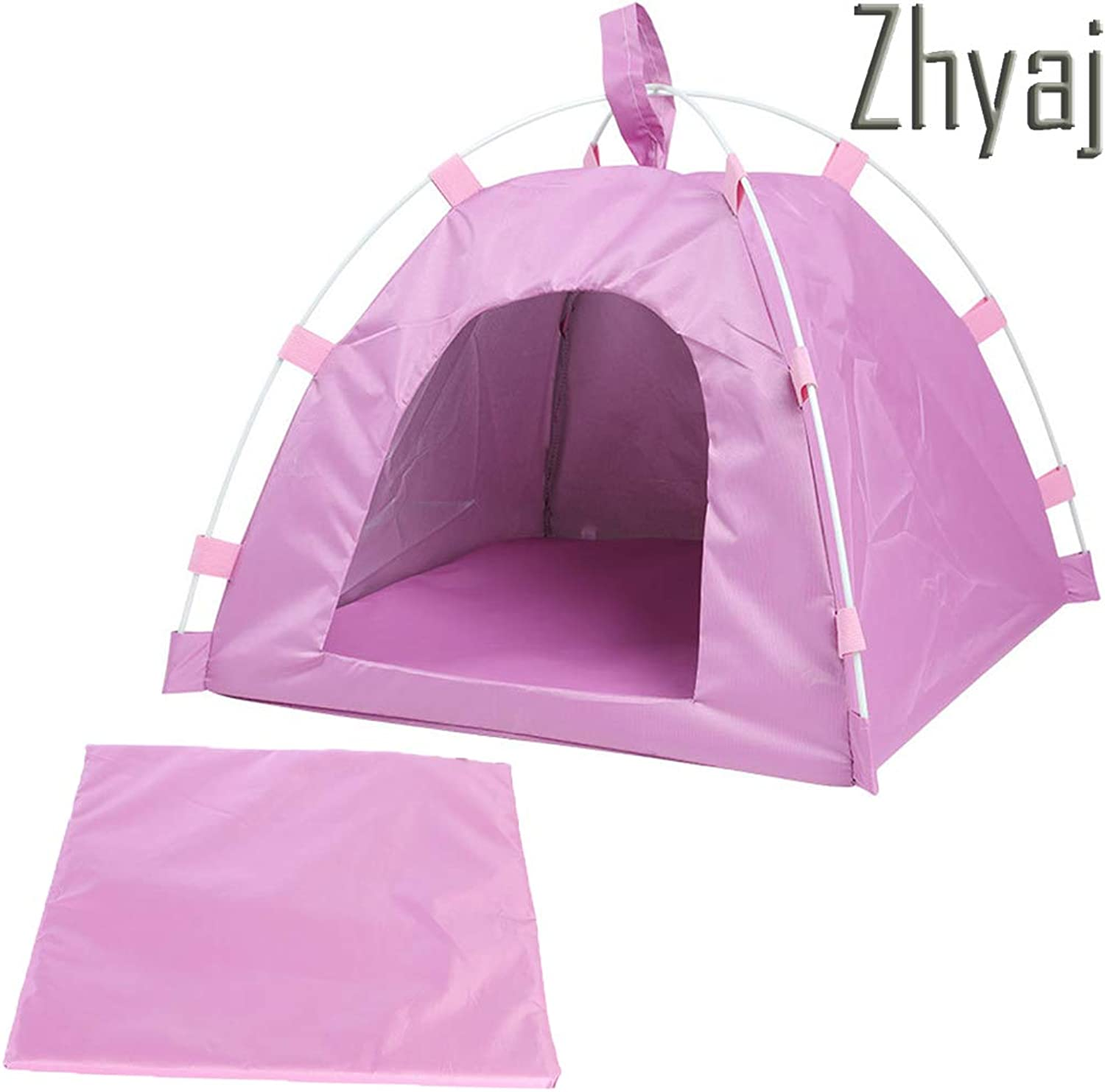 Dog Tent, Waterproof Breathable Stable and Durable Easy to Clean Foldable Pet Tent Dog Bed Nest for Pet Cat and Dog Easy to Carry Dog House,A