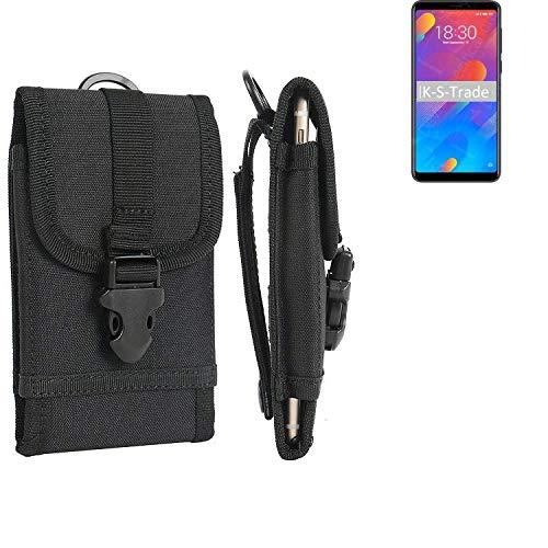 K-S-Trade® Bolsa del Cinturón Funda para Meizu M8 Lite, Negro | Caja del Teléfono Cubierta Protectora Bolso