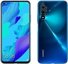 "Huawei Nova 5T, Smartphone (6GB de RAM, 128GB de Memoria Interna, 5 Cámaras IA, FullView Display, Sensor de Huella Lateral, 3750 mAh) Dual-SIM, Infrared USB, Android, 6.26"", Azul"