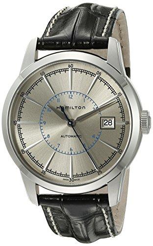 Hamilton Reloj para Hombre H40555781 American Classic Railroad con visualización analógica Suiza, automático, Color Negro