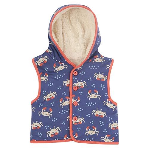 Piccalilly Fleece gefütterte Körperwärmer für Kinder, Bio-Baumwolle, Sherpa, Unisex, Blau Gr. 3-4 Jahre, violett