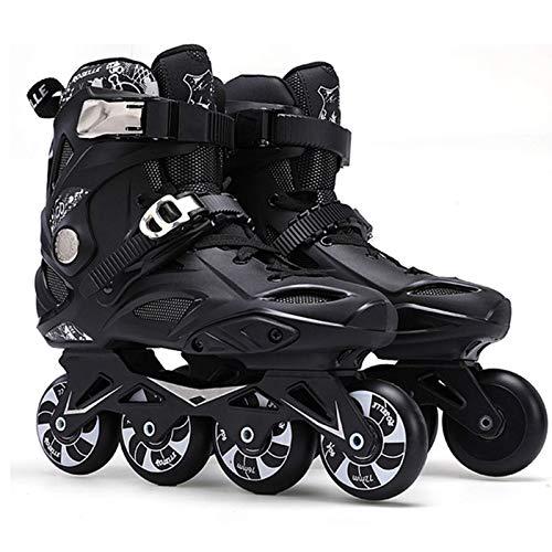 Zjcpow Dytxe Patines en línea con Resistentes al Desgaste de Ruedas de la PU, al Aire Libre Roller Skates Interior for Niños, Niñas, Principiantes xuwuhz (Color : Black, Size : 39)
