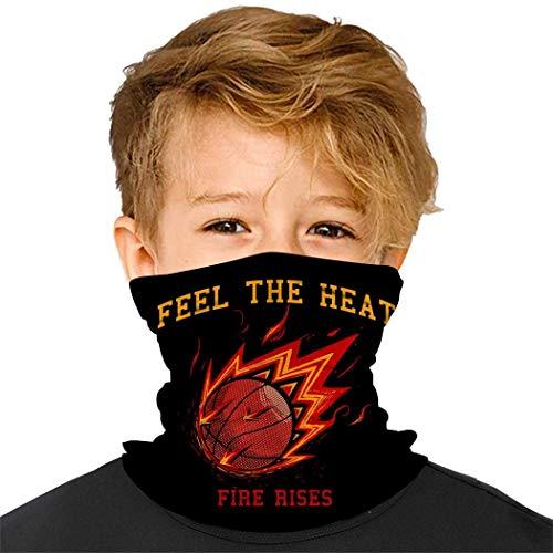 Bexin-U Lustige Bandanas mit amerikanischer Flagge für Kinder, Gesichtsdekoration, Schutz, Halstuch, Stirnband für Jungen und Mädchen Gr. Einheitsgröße, Basketball-3
