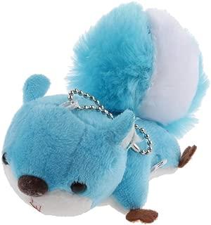 Prettyia Stuffed Animal Keychain Large Tail Squirrel Bag Charm Plush Toy - Blue