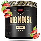 Redcon1 Big Noise Pump Formula (30 Servings) - Non-Stim, Increased Energy and Focus, Vasodilator, Intense Pumps (Strawberry Kiwi)