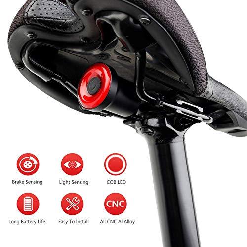 Calistouk Direct Luz Trasera de Bicicleta Inteligente con Mo
