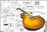 Plan de Gibson Les Paul Guitare électrique '59–Full Échelle d'impression