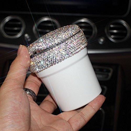 SFSYDDY Diamant Auto Asbak Met Led Lamp Lichtgevende Multifunctionele Auto Asbak Auto Bekleding Automotive Supplies Vrouw