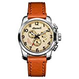 Ingersoll Men's The Manning Quartz Watch with Cream Dial and Brown Leather Strap I03001