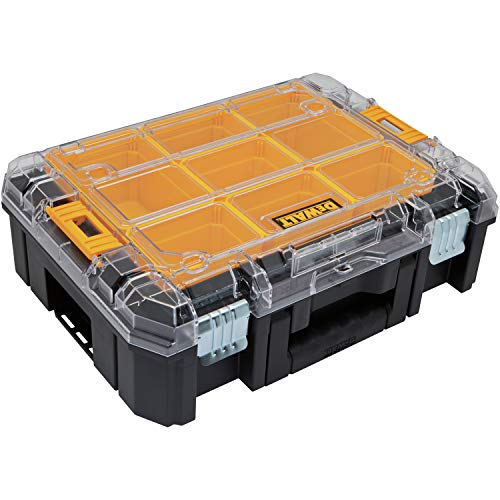 DeWalt TSTAK 17 in. Plastic Organizer with Clear Lid 13 in. W x 6 in. H Black