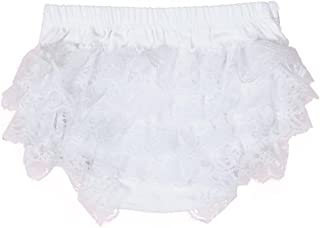 Toddler Baby Infant Girls Lace Ruffle Bloomer Nappy Underwear Panty Diaper Cover Briefs 0-18 Months
