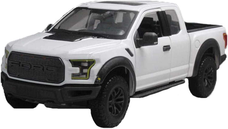 para mayoristas GAOQUN-TOY GAOQUN-TOY GAOQUN-TOY 1 24 2017 Ford F-150 Raptor Pickup Modelo de Coche de simulación de Regalo de cumpleaños Adornos (Color   blancoo, Tamaño   25cm10.5cm11cm)  deportes calientes