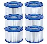 6 Cartucce per filtro taglia VI compatibile con le vasche idromassaggio Lay-Z-Spa