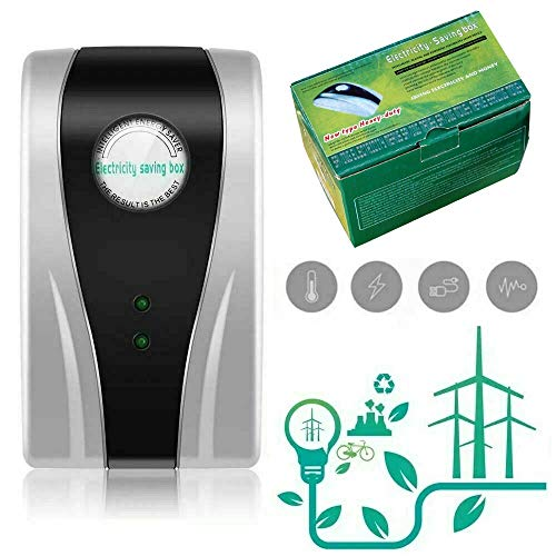 GHSY Dispositivo Inteligente de Ahorro de energía, Ahorro de energía Inteligente para el hogar, Caja de Ahorro de Electricidad, Ahorro de energía para Oficina, 90V-250V, 30kW (2 Unidades) (Euro Plug)
